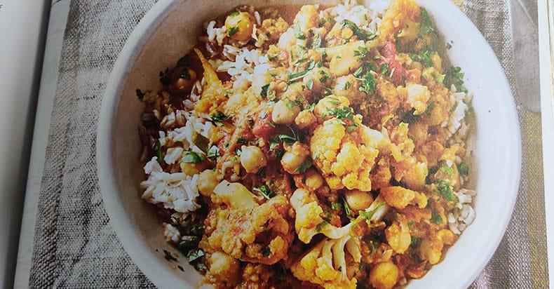Chickpea and Cauliflower Curry Vegan Recipe