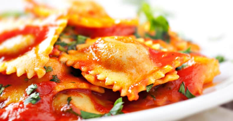 Ravioli pasta can contain meat so which is not vegan