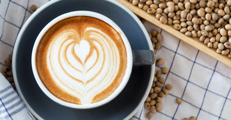 Coffee With Soy Milk Drink Is Suitable For Vegans As It's Dairy Free