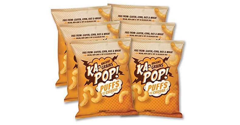 Ka-Pop - Ancient Grain Puffs - Dairy Free Cheddar Vegan Cheetos Alternative